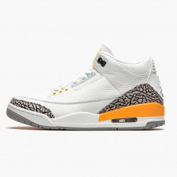"Air Jordan 3 Retro ""Laser Orange"" CK9246 108 White/Laser Orange-Cement Grey AJ3 Jordan"