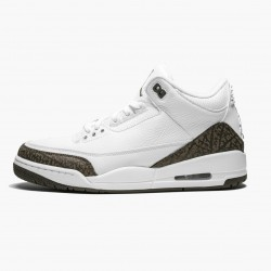 "Air Jordan 3 Retro ""Mocha"" 136064 122 White/Chrome/Dark Mocha AJ3 Jordan"