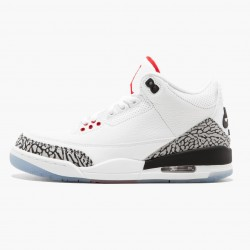 "Air Jordan 3 Retro NRG ""Mocha"" 923096 101 White/Fire Red-Cement Grey AJ3 Jordan"