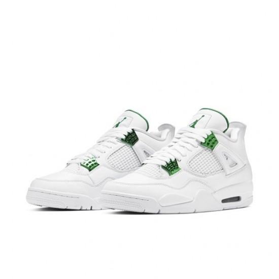 Air Jordan 4 Retro Metallic Green CT8527 113 White/Metallic Silver-Pine Gre AJ4 Jordan