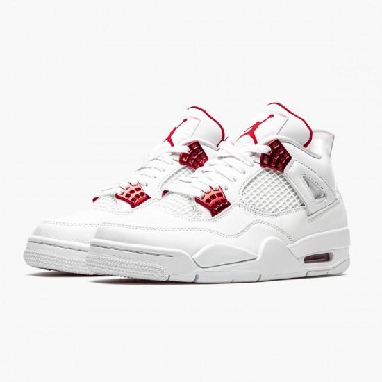 Air Jordan 4 Retro Metallic Red CT8527 112 White/Metallic Silver-Univers AJ4 Jordan