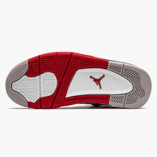 Air Jordan 4 Retro OG GS Fire Red 2020 Jordan 408452 160 White/Fire Red-Black-Tech Grey