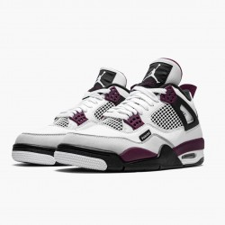 "Air Jordan 4 Retro ""PSG Paris Saint Germain"" Jordan White/Neutral Grey-Black-Borde CZ5624 100"
