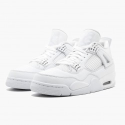 "Air Jordan 4 Retro ""Pure Money"" 308497 100 White/Metallic Silver AJ4 Jordan"