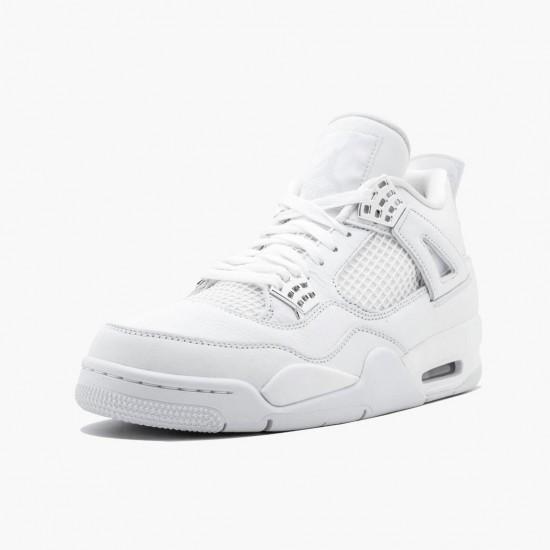 Air Jordan 4 Retro Pure Money 308497 100 White/Metallic Silver AJ4 Jordan
