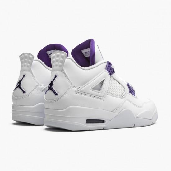 Air Jordan 4 Retro Purple Metallic Jordan White/Metallic Silver-Court Pu CT8527 115