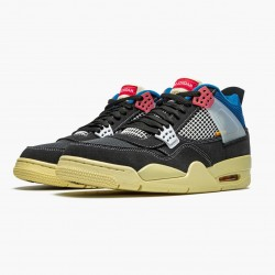 "Air Jordan 4 Retro ""Union Off Noir"" DC9533 001 Off Noir/Brigade Blue-Dark Smo AJ4 Jordan"