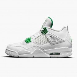 "Air Jordan 4 Retro ""Metallic Green"" CT8527 113 White/Metallic Silver-Pine Gre AJ4 Jordan"