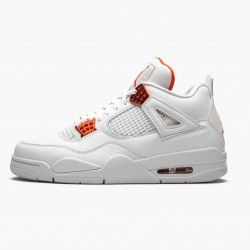 "Air Jordan 4 Retro ""Metallic Orange"" CT8527 118 White/Team Orange-Metallic Sil AJ4 Jordan"