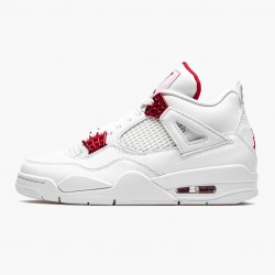 "Air Jordan 4 Retro ""Metallic Red"" CT8527 112 White/Metallic Silver-Univers AJ4 Jordan"
