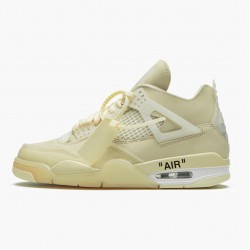 "Air Jordan 4 Retro Off-White ""Sail"" Jordan Sail/Muslin-White-Black CV9388 100"