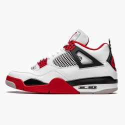 "Air Jordan 4 Retro OG ""Fire Red"" 2020 Jordan White/Fire Red-Black-Tech Grey DC7770 160"