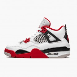 "Air Jordan 4 Retro OG GS ""Fire Red"" 2020 Jordan 408452 160 White/Fire Red-Black-Tech Grey"