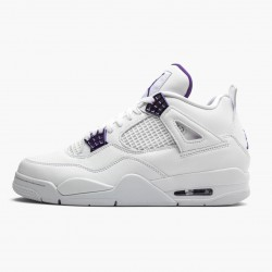"Air Jordan 4 Retro ""Purple Metallic"" Jordan White/Metallic Silver-Court Pu CT8527 115"