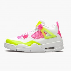 "Air Jordan 4 Retro ""White Lemon Pink"" CV7808 100 White/Lemon Venom/Pink Blast AJ4 Jordan"