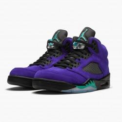 """Air Jordan 5 Retro """"Alternate Grape"""" Grape Ice/Black-Clear-New Emer 136027 500 AJ5 Jordan"""