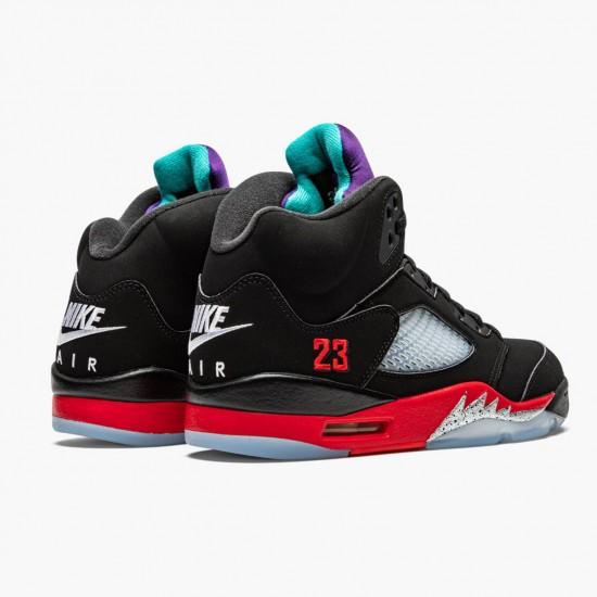 Air Jordan 5 Retro Top 3 Black/Fire Red-Grape Ice-New E CZ1786 001 AJ5 Jordan