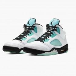 "Air Jordan Retro 5 ""Island Green"" White/Black-White-Island Green CN2932 100 AJ5 Jordan"