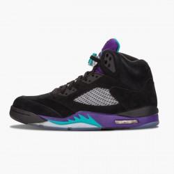 """Air Jordan 5 Retro """"Black Grape"""" Black/New Emerald-Grape Ice 136027 007 AJ5 Jordan"""