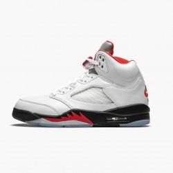 "Air Jordan 5 Retro ""Fire Red Silver Tongue"" True White/Fire Red-Black DA1911 102 AJ5 Jordan"