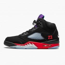"Air Jordan 5 Retro ""Top 3"" Black/Fire Red-Grape Ice-New E CZ1786 001 AJ5 Jordan"