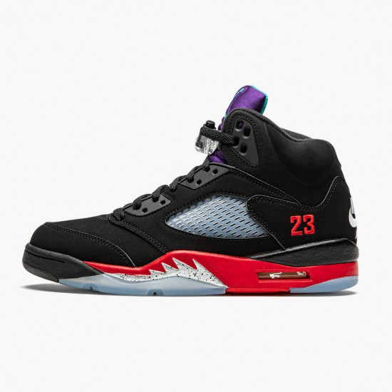 Air Jordan 5 Retro Top 3 Black/Fire Red-Grape Ice-New E CZ1786 001 AJ5 Jordan