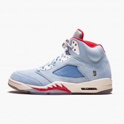 "Air Jordan 5 Retro Trophy Room ""Ice Blue"" Ice Blue/University Red-Sail-M CI1899 400 AJ5 Jordan"