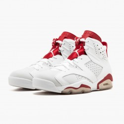 "Air Jordan Retro 6 ""Alternate"" 384664 113 White/Gym Red-Pure Platinum AJ6 Black Jordan"