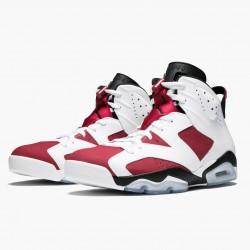 "Air Jordan Retro 6 ""Carmine"" 384664 160 White/Carmine-Black AJ6 Black Jordan"