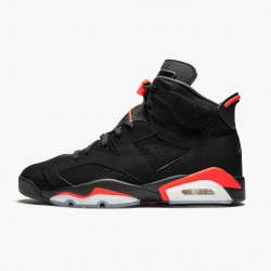 "Air Jordan 6 Retro ""Black Infrared"" 384664 060 Black/Infrared AJ6 Black Jordan"