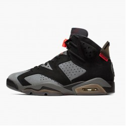 "Air Jordan 6 Retro ""PSG Paris Saint-Germain"" CK1229 001 Iron Grey/Infrared 23-Black AJ6 Black Jordan"