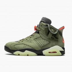 "Travis Scott x Air Jordan 6 Retro ""Olive"" CN1084 200 Medium Olive/Black-Sail/Univer AJ6 Black Jordan"