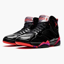 "Air Jordan 7 Retro ""Black Patent"" Black/Anthracite-Smoke Grey-Br 313358 006 AJ7 Jordan"