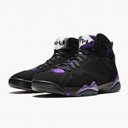 "Air Jordan 7 Retro ""Ray Allen"" Black/Fierce Purpler/Dark Stee 304775 053 AJ7"